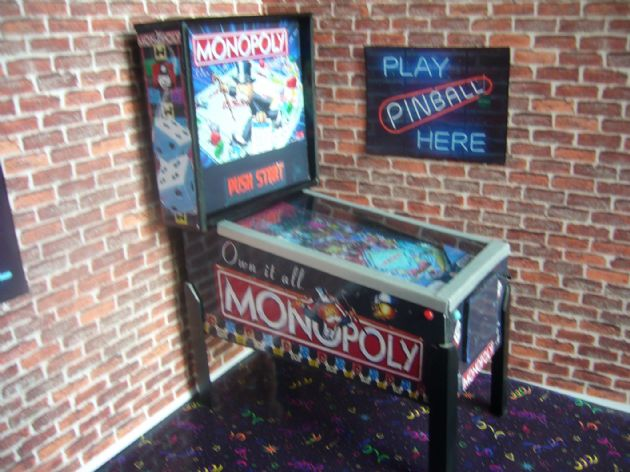 Monopoly  1/12th Scale Miniature Pinball Table Model